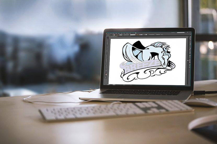 digitize Brookland MS Mascot