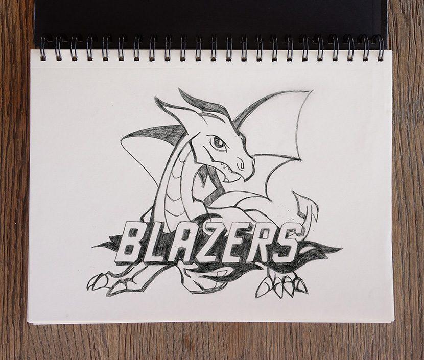 Brookland MS Mascot Concept - Blazers