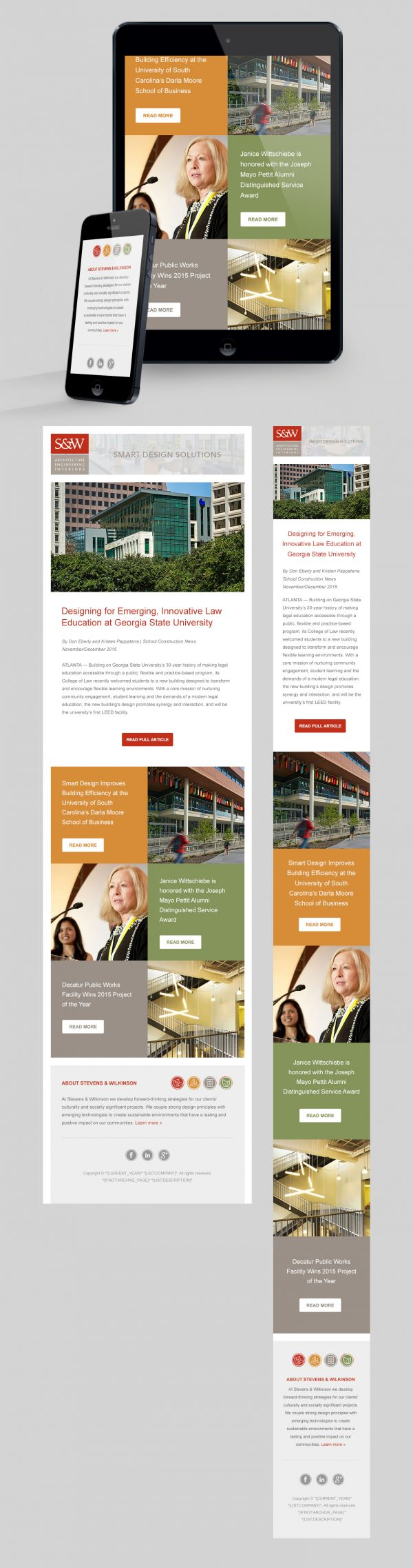 Stevens & Wilkinson HTML email design and development