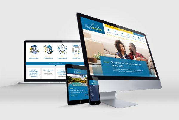 Georgia Association of REALTORS Website Design and Development by Frankie's Folio