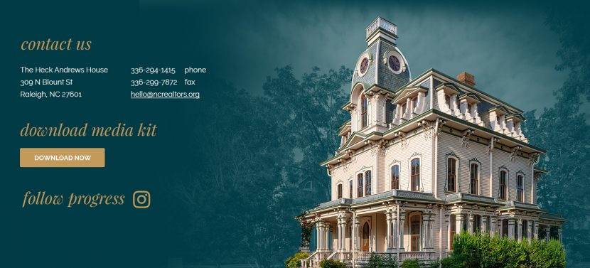Heck-Andrews House, Raleigh NC | Resposive website design and development by Frankie's Folio