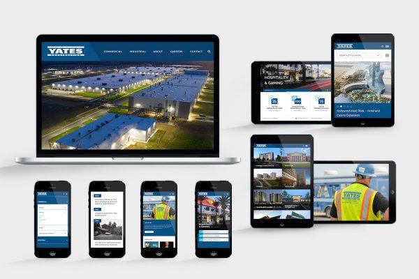 Yates Construction website design and development by Frankie's Folio